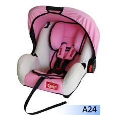 Детское сиденье GANEN, розовый+бежевый 0-13кг (1х4)