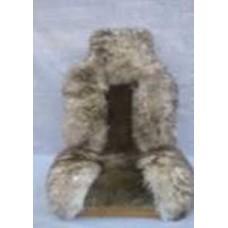 Накидка для сиденья натуральная, 140*50, серый