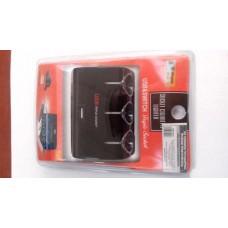 Зарядное устройство   на моб. тел., черный 12V/24V 1000ma USB 5v 3в1, тройник прикуриватель, 1х60
