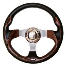 Рулевое колесо пласт. деревянный