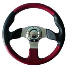 Рулевое колесо спортивный черный