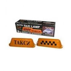 Знак такси на магните оранжевый квадратный 1х20