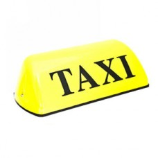 Знак такси на магните англ-англ.  сары 1х20