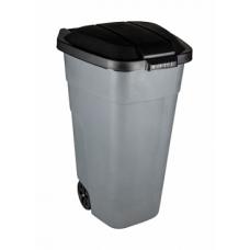 Бак для мусора с крышкой на колесах 110л.